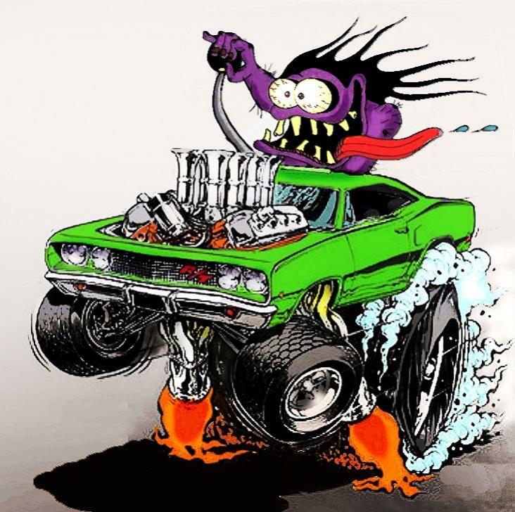 Tire Clipart Rat Fink - Rat Fink Hot Rod Cartoon - HD Wallpaper