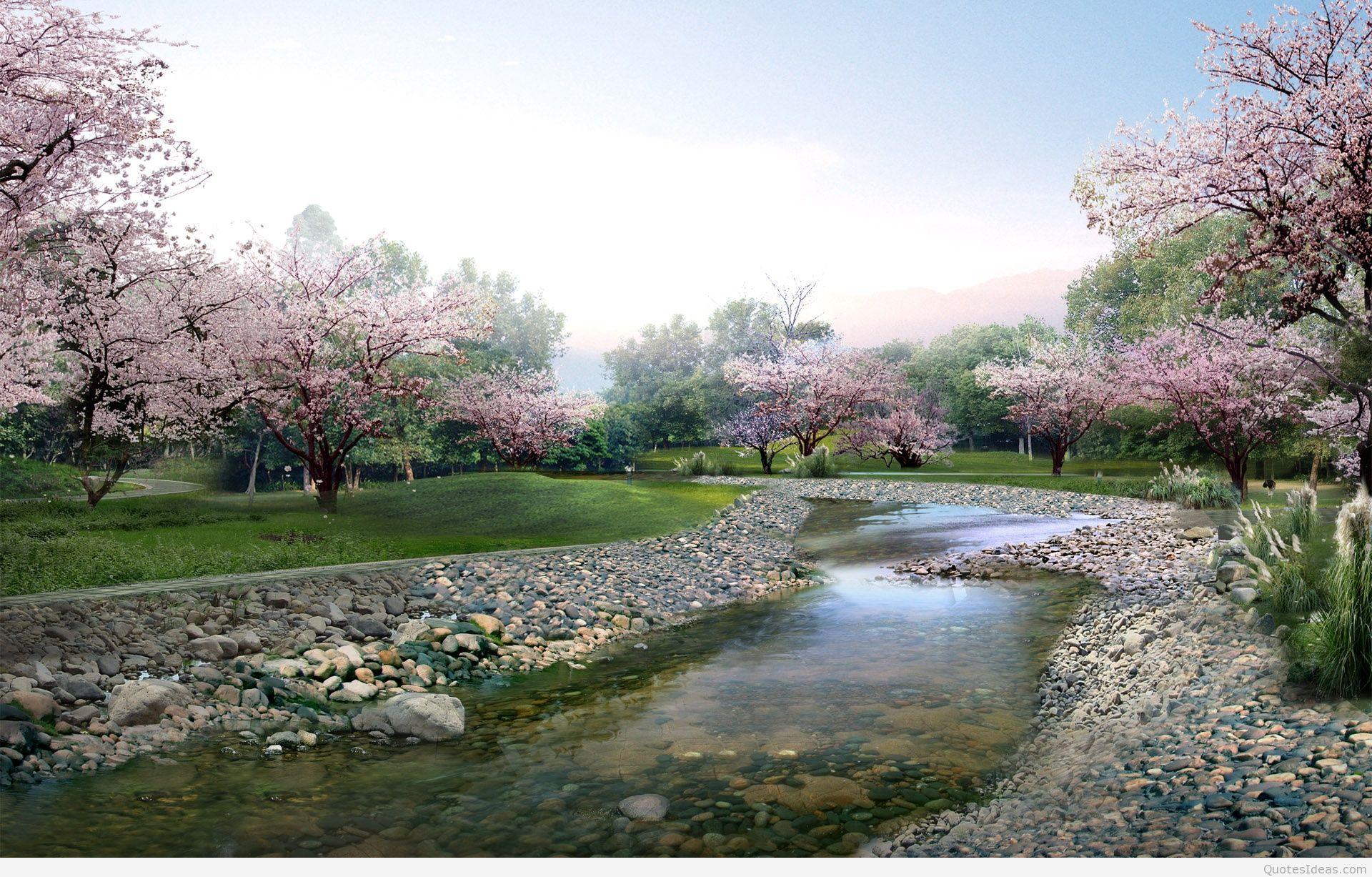 Spring Wallpapers Sky Hd Wallpaper Desktop Landscape - Full Hd Wallpaper Cave Wallpaper Hd Nature - HD Wallpaper