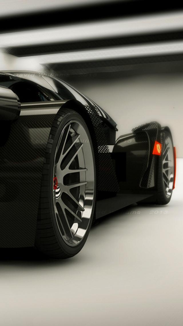 Black Ferrari Wallpaper Black Ferrari Wallpaper For Iphone 640x1136 Wallpaper Teahub Io