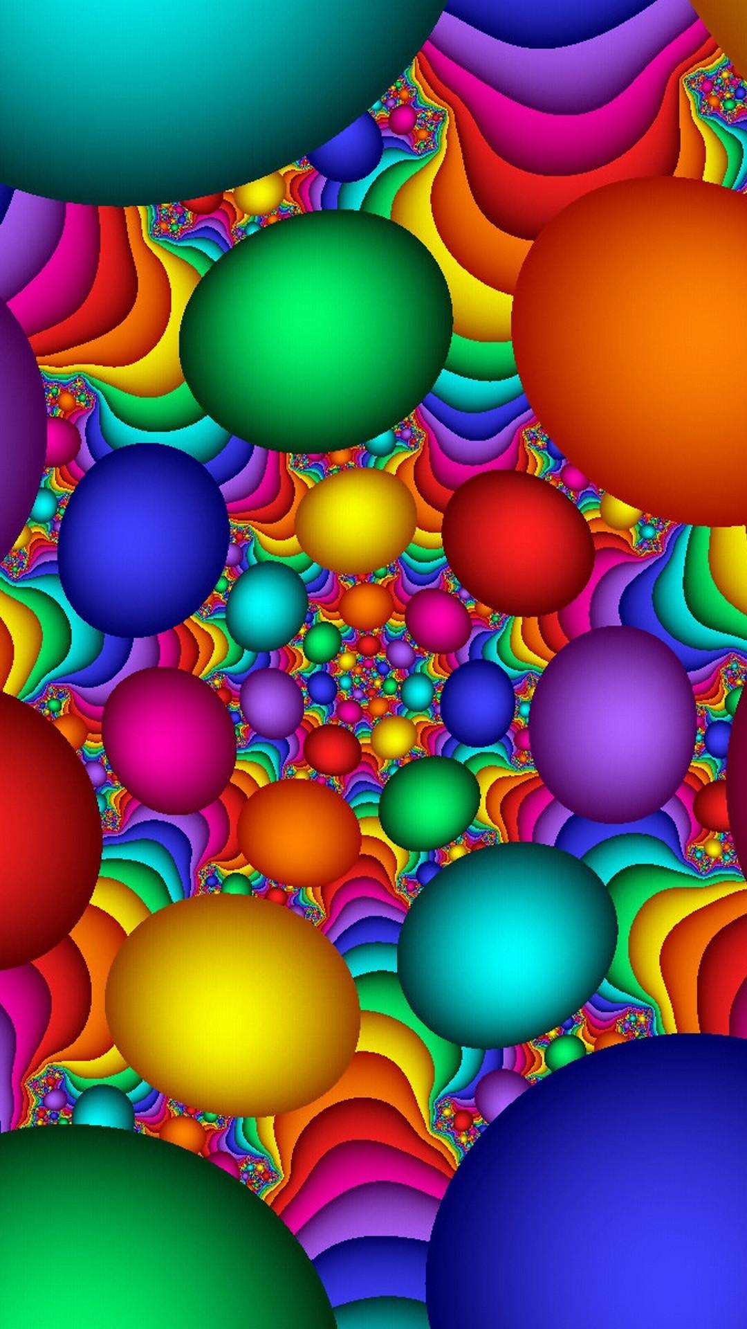 3d Color Balls Wallpaper - Colorful Balloons Background Hd - HD Wallpaper