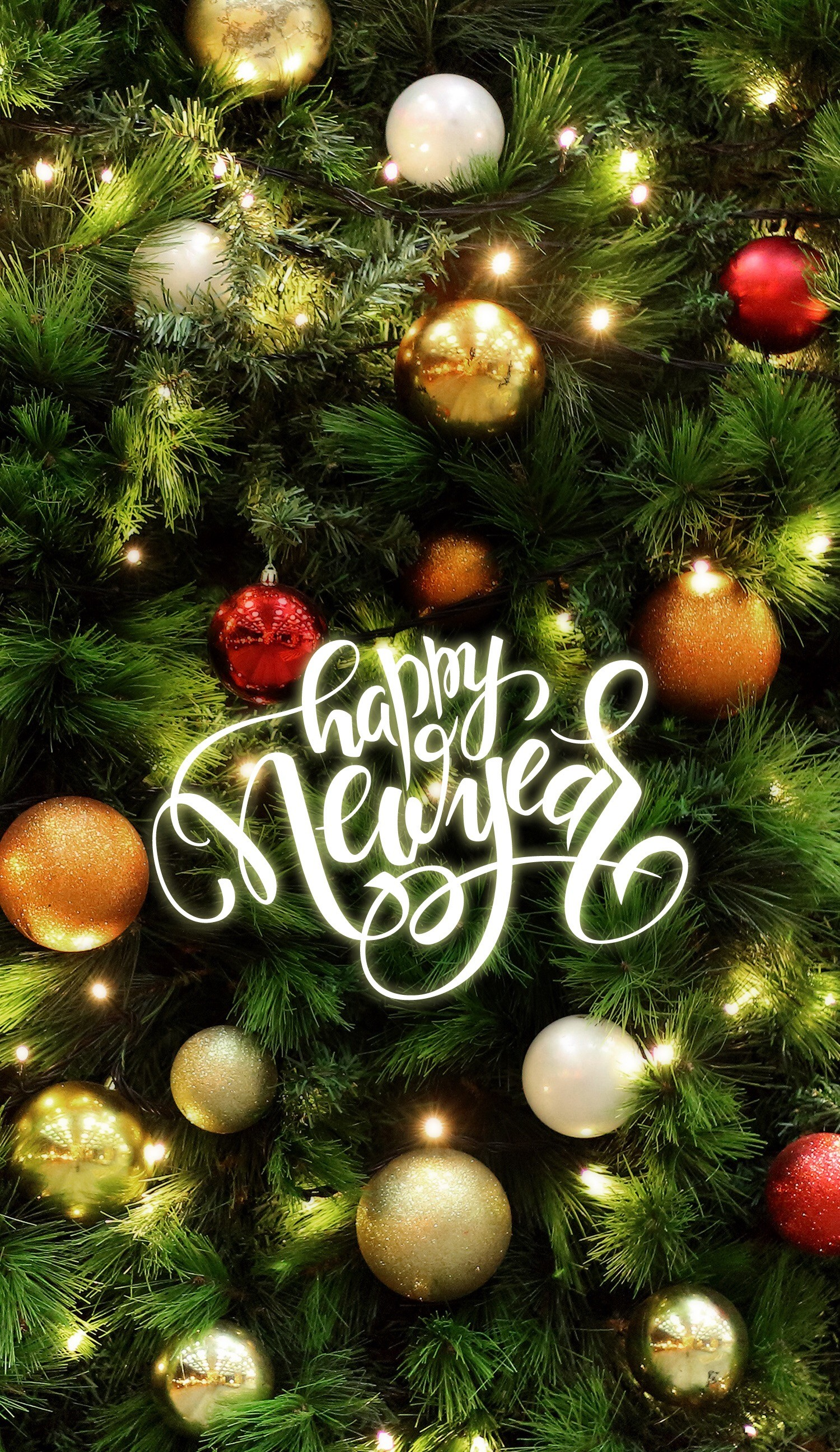 Wallpaper Iphone/holidays/happy New Year šª   Data - Christmas Tree Lights Balls - HD Wallpaper
