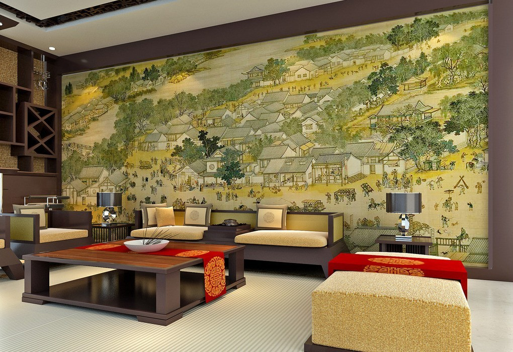Wall Paints Designs For Living Rooms - HD Wallpaper