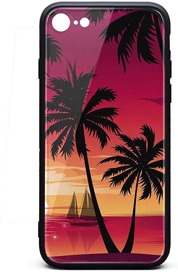 Sunset Palm Trees Hd - HD Wallpaper
