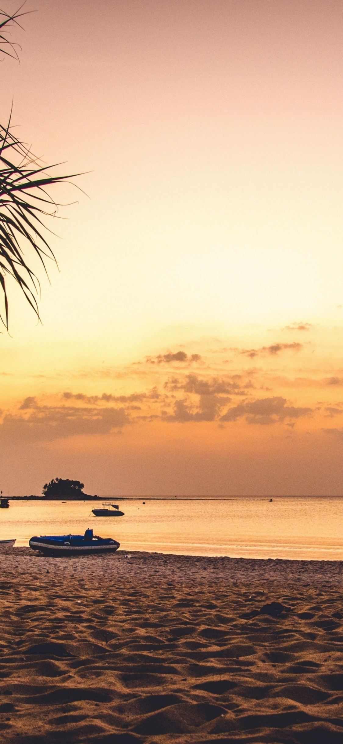 Beach, Sand, Sky, Palm Tree, Sunset, Wallpaper - Phuket Sunset On Beach - HD Wallpaper