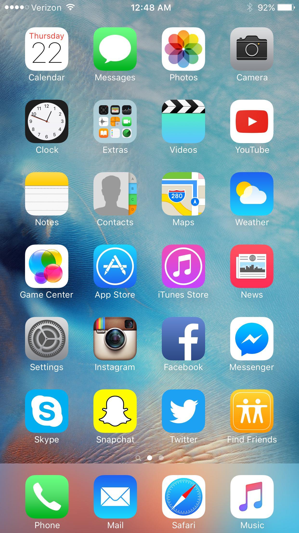 Iphone 6 Ios 11 Home Screen - HD Wallpaper