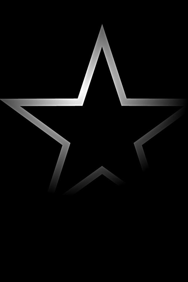 Dark Iphone S Wallpapers Iphone Wallpapers, Ipad Wallpapers - Dallas Cowboys Logo In Black - HD Wallpaper