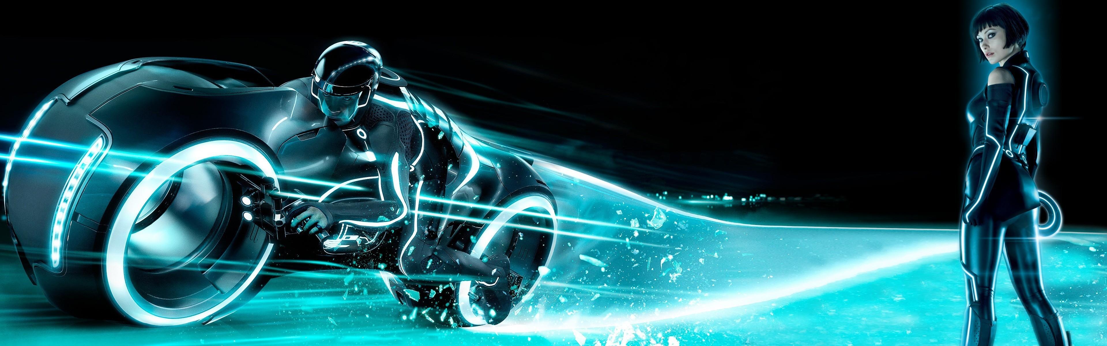 Olivia Wilde Tron Legacy Via Www Tron Legacy 3840x1200 Wallpaper Teahub Io