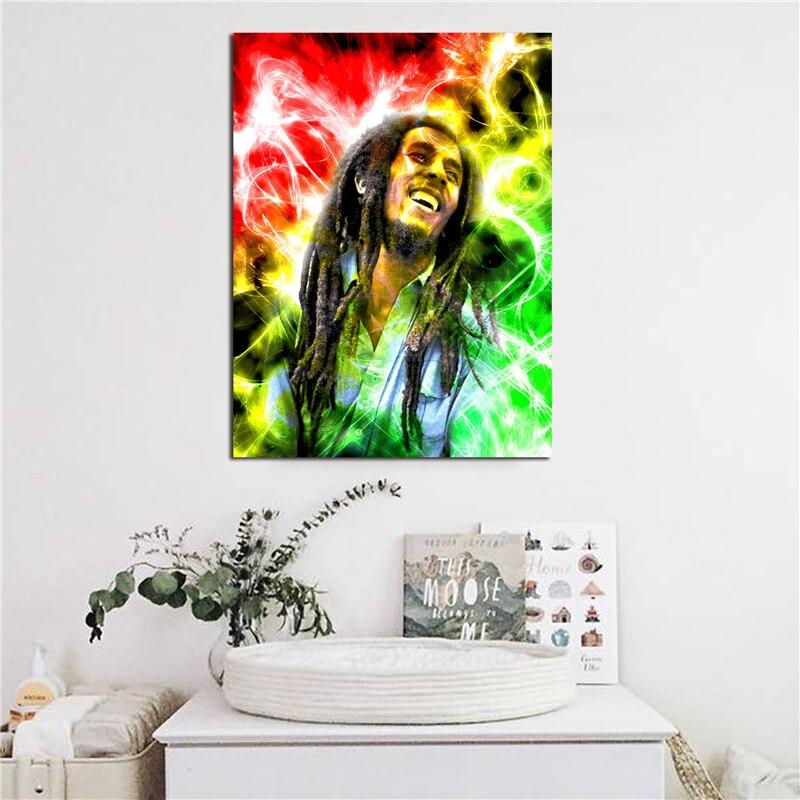 Jamaica Reggae Singer Bob Marley Canvas Painting Print - Bob Marley - HD Wallpaper