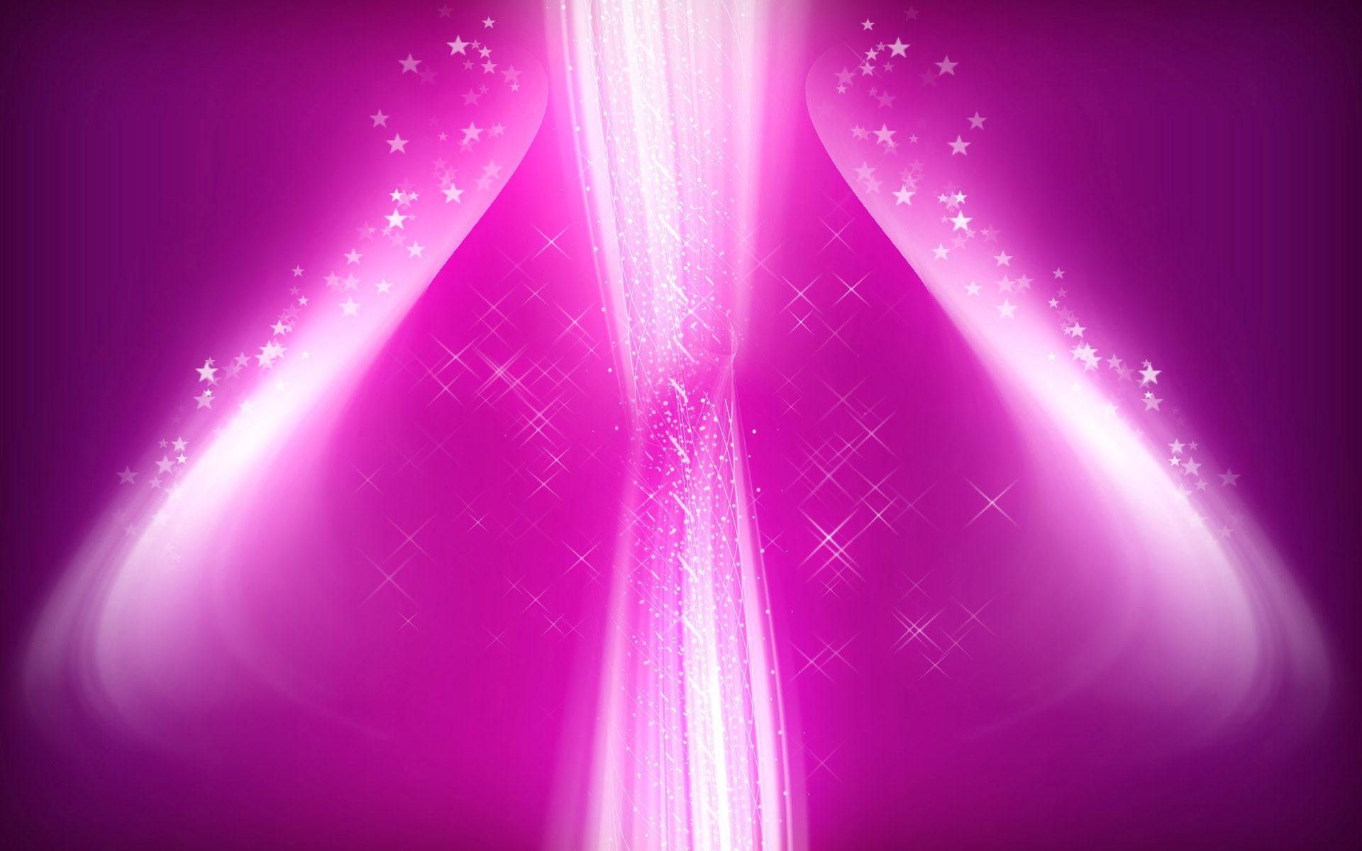 Neon Glow Pink Color - HD Wallpaper