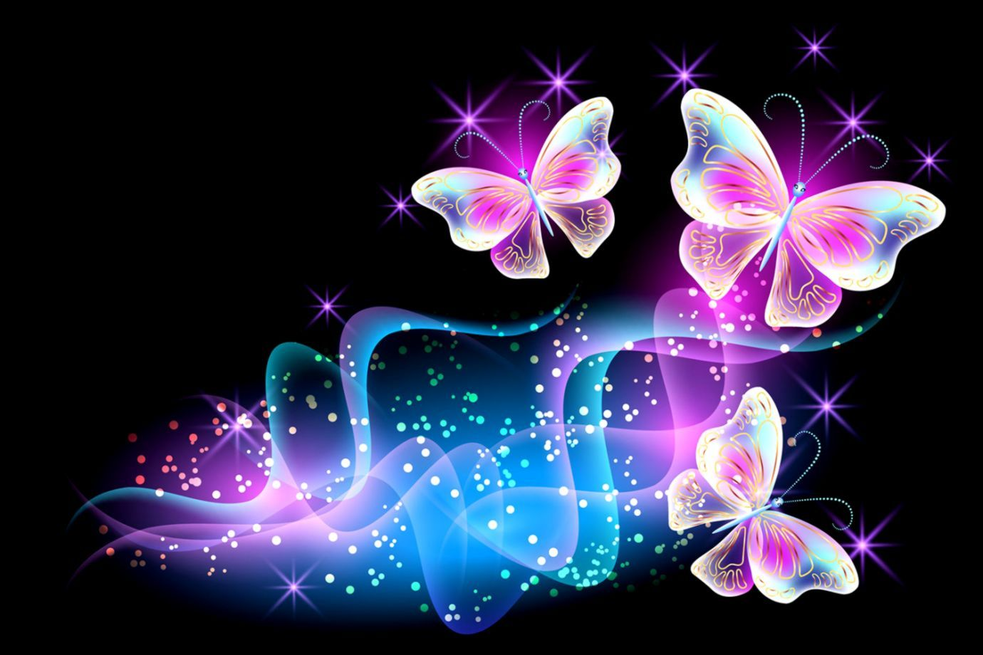 Nice Decoration Pink Butterfly Wallpaper Butterflies - Pink Wallpaper Butterflies - HD Wallpaper