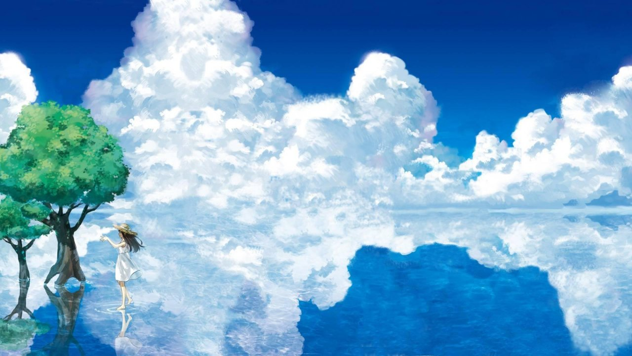 Anime Landscape Dual Screen Wallpaper Download Hd Images - Dual Monitor 4k Landscape - HD Wallpaper