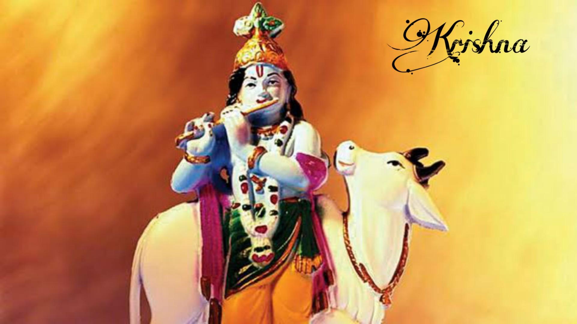 Krishna Images Hd Download - Lord Krishna With Garland - HD Wallpaper