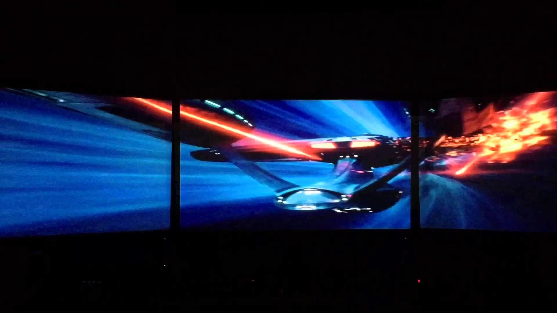 Star Trek Movie Clips Eyefinity Surround Triple Monitors Star Wars Triple Monitor Wallpaper Hd 1920x1080 Wallpaper Teahub Io