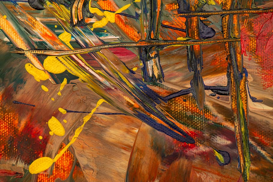 Multicolored Abstract Painting, 4k Wallpaper, Abstract - Abstract Expressionism Abstract Art 4k - HD Wallpaper