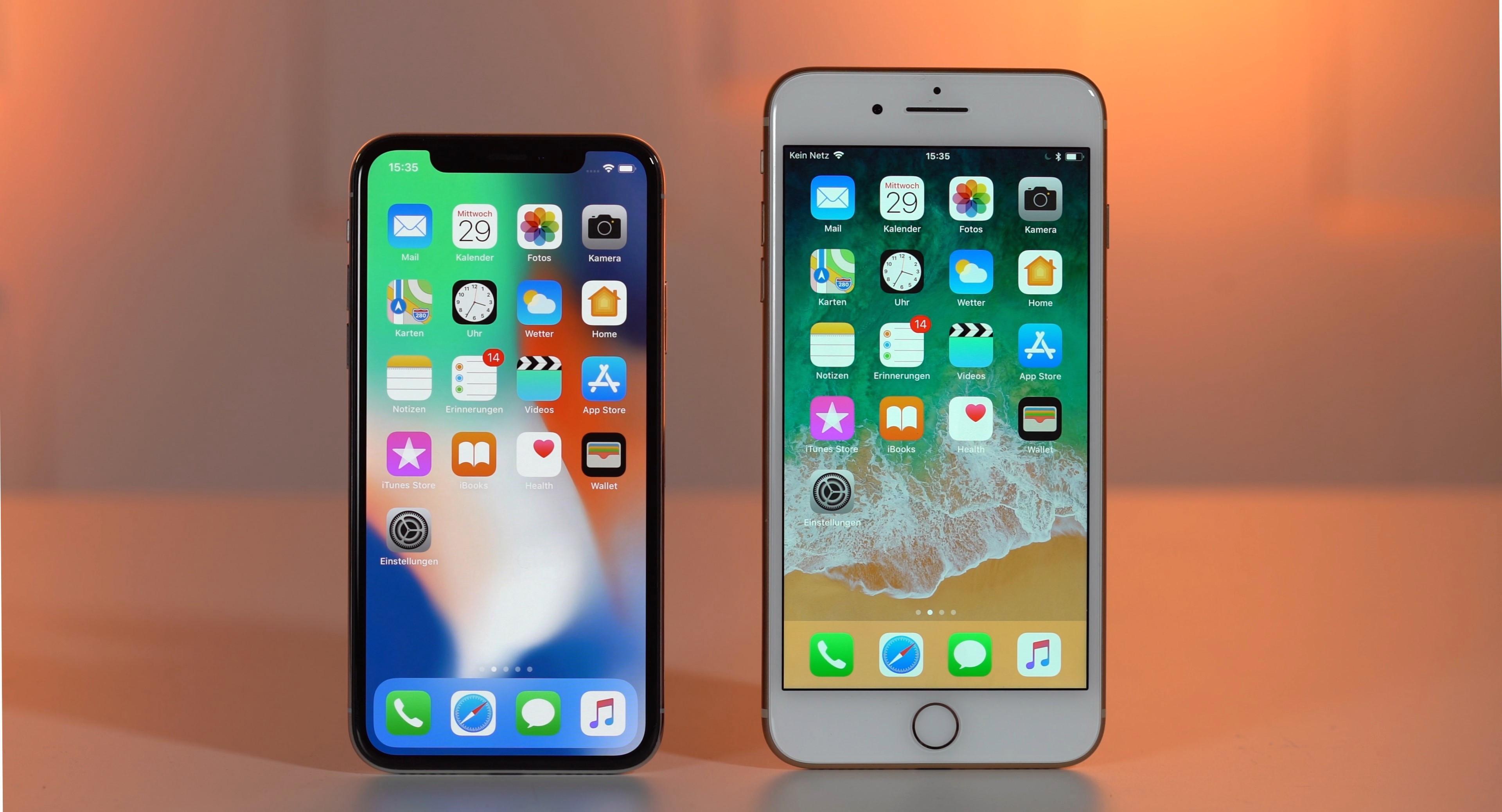 Iphone Moving Wallpaper - Iphone X Vs Iphone 6 - HD Wallpaper