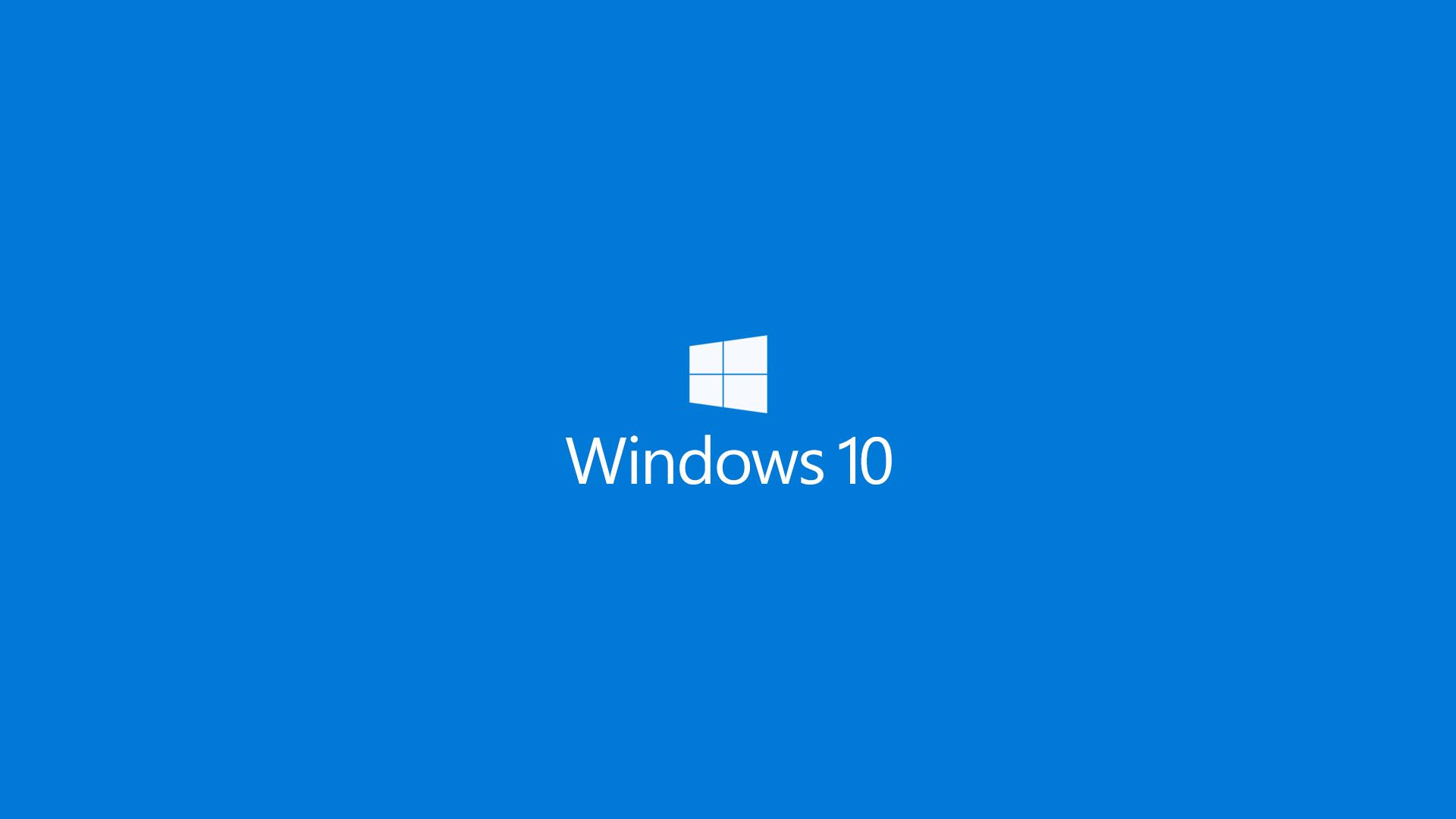 Windows 10 Blue Background Desktop Background - Windows 7 - HD Wallpaper