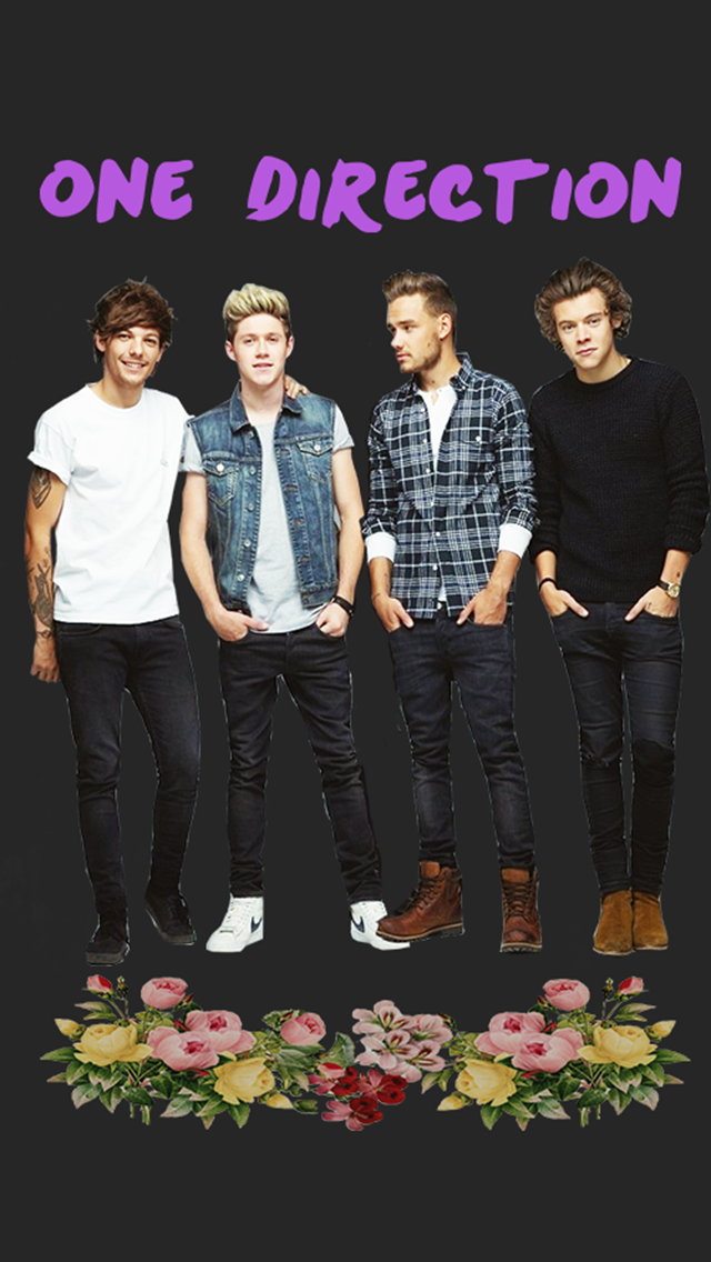 1d, Background, Floral - Iphone Wallpaper One Direction - HD Wallpaper