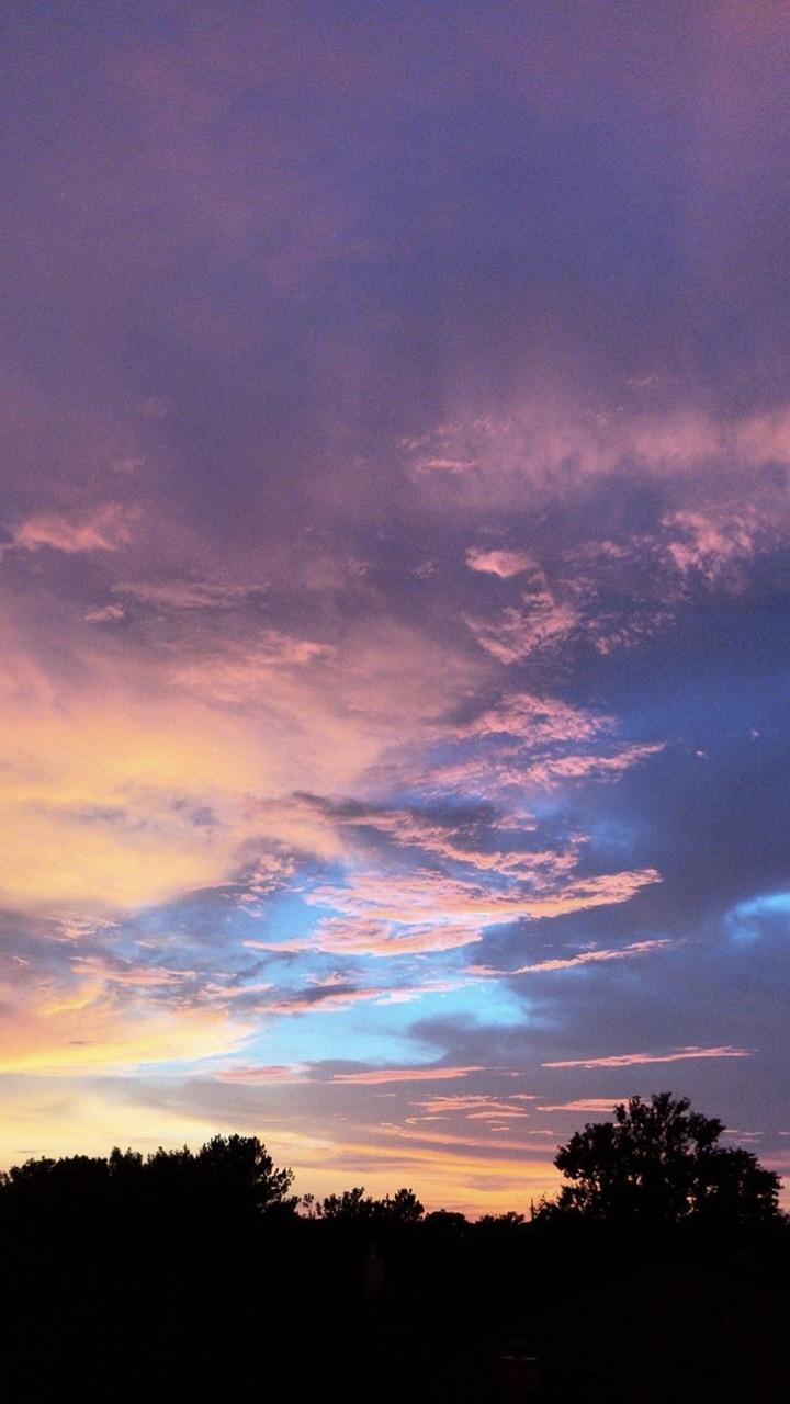 Wallpaper Purple Sunset Afterglow 720x1280 Wallpaper Teahub Io