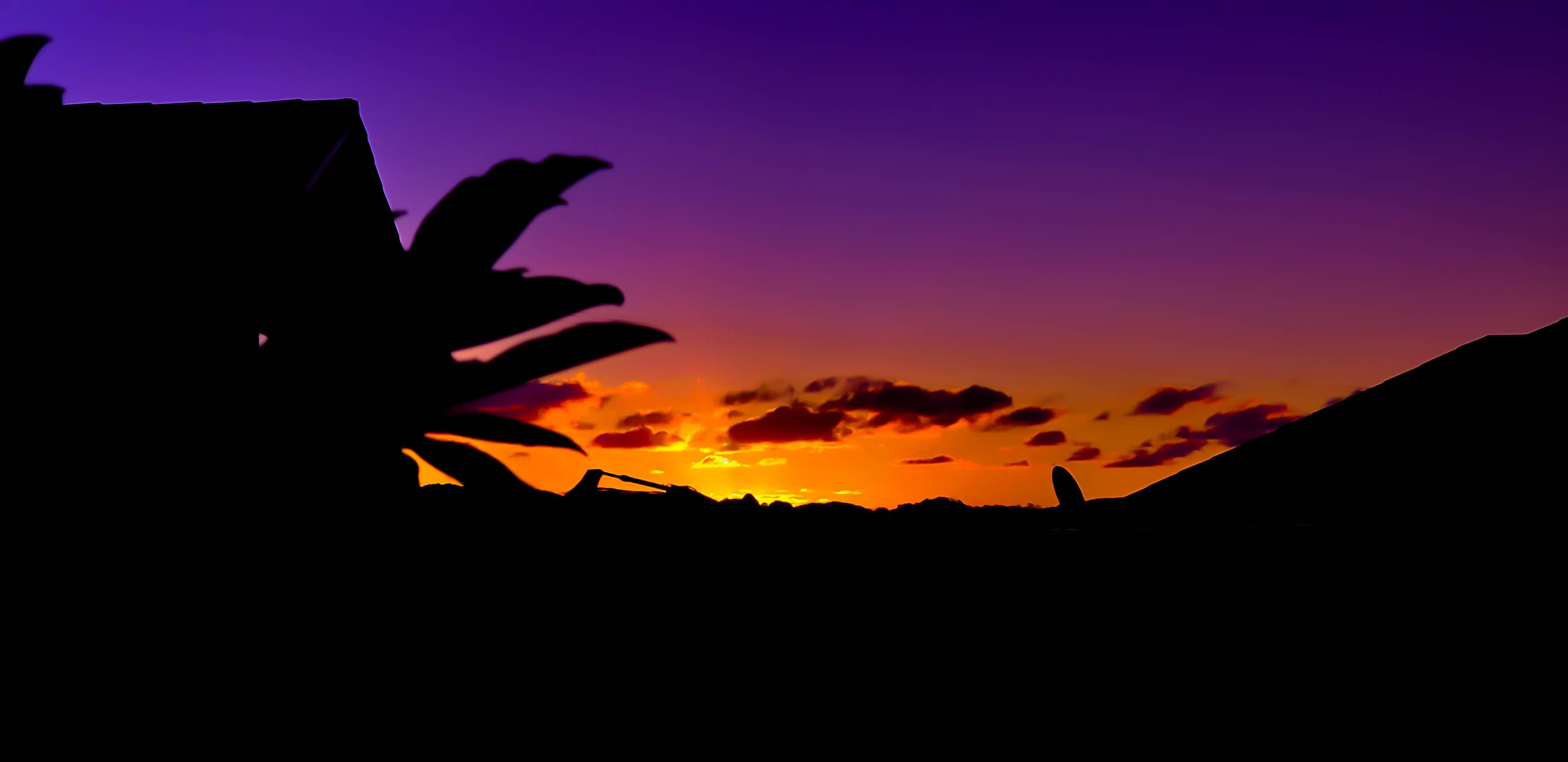 Purple Sunset Wallpaper - Purple Orange Wallpaper 4k - HD Wallpaper