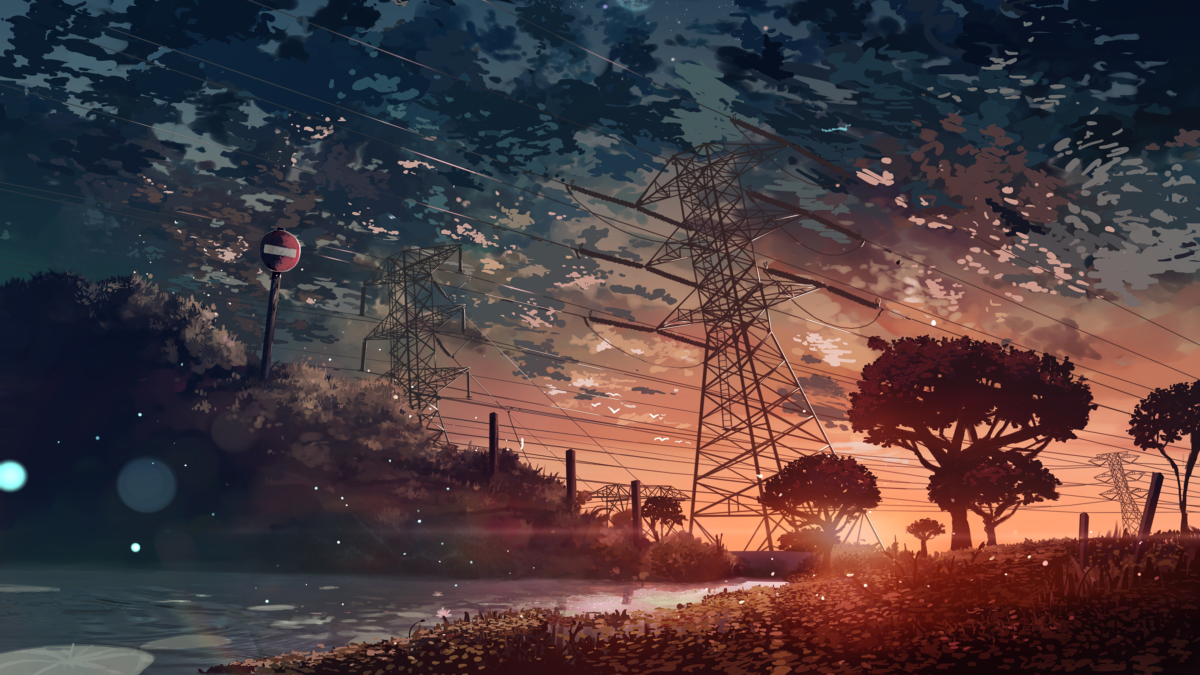 Anime Scenery Sunset 4k Anime Landscape Wallpaper 4k 3840x2160 Wallpaper Teahub Io