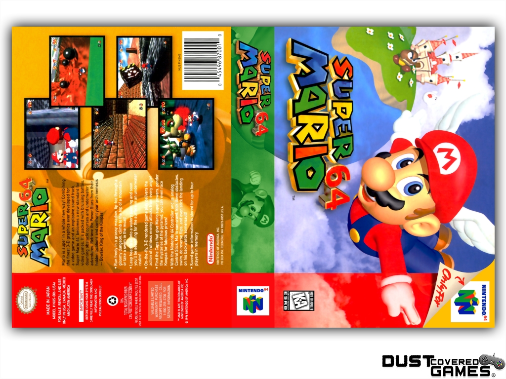 Super Mario 64 N64 Nintendo 64 Game Case Box Cover - Nintendo 64 Game Box - HD Wallpaper
