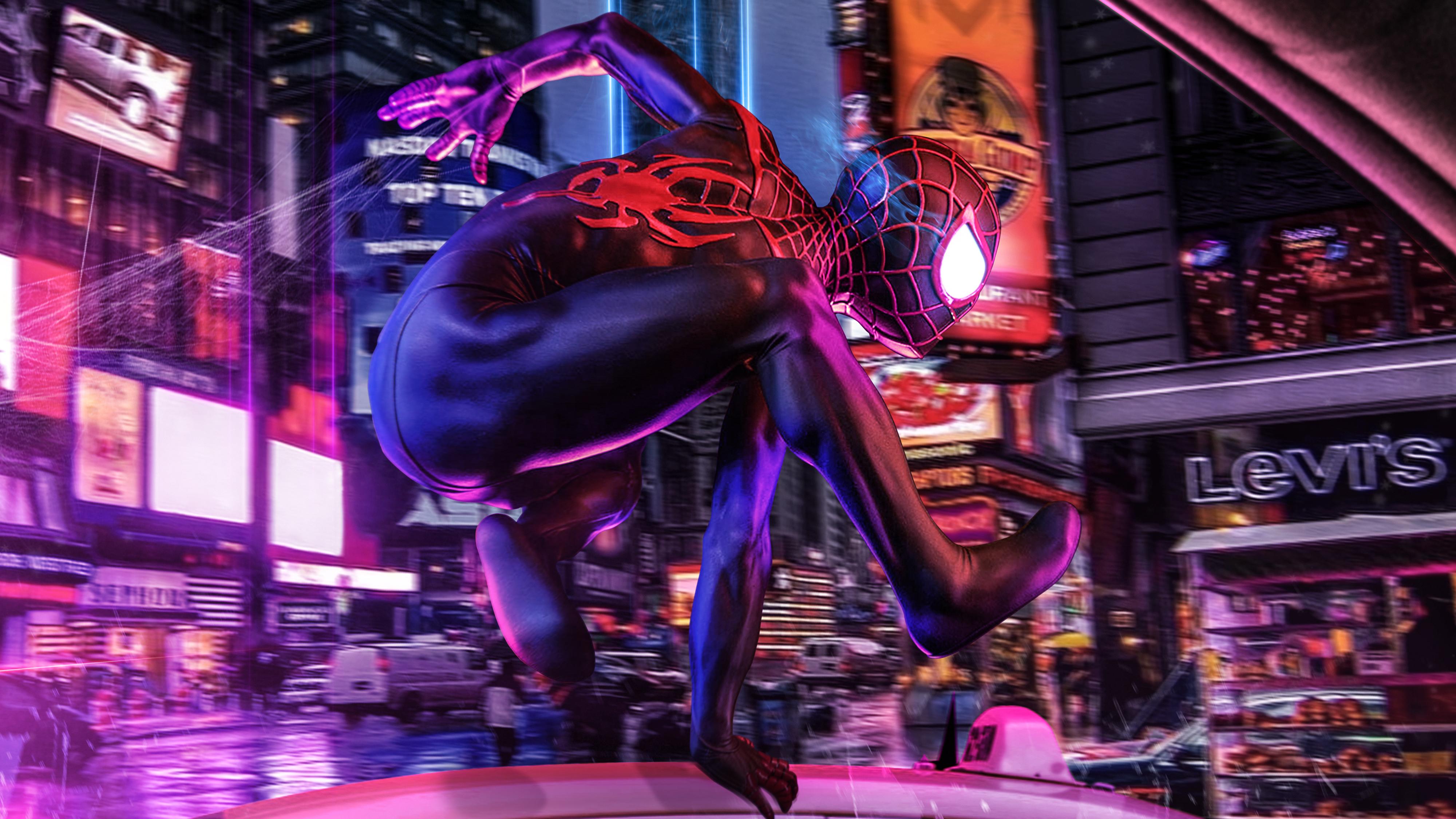 Spider Man Into The Spider Verse 4k Spider Man Into The Spider Verse 4000x2250 Wallpaper Teahub Io