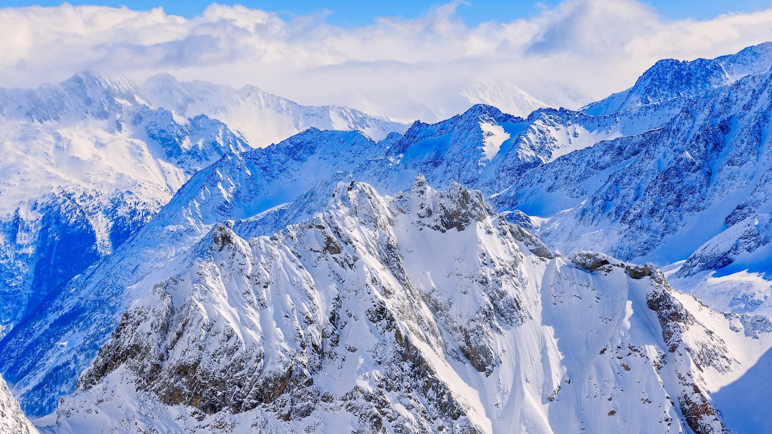 Switzerland Mountains Snow 2560x1440 Wallpaper Teahub Io