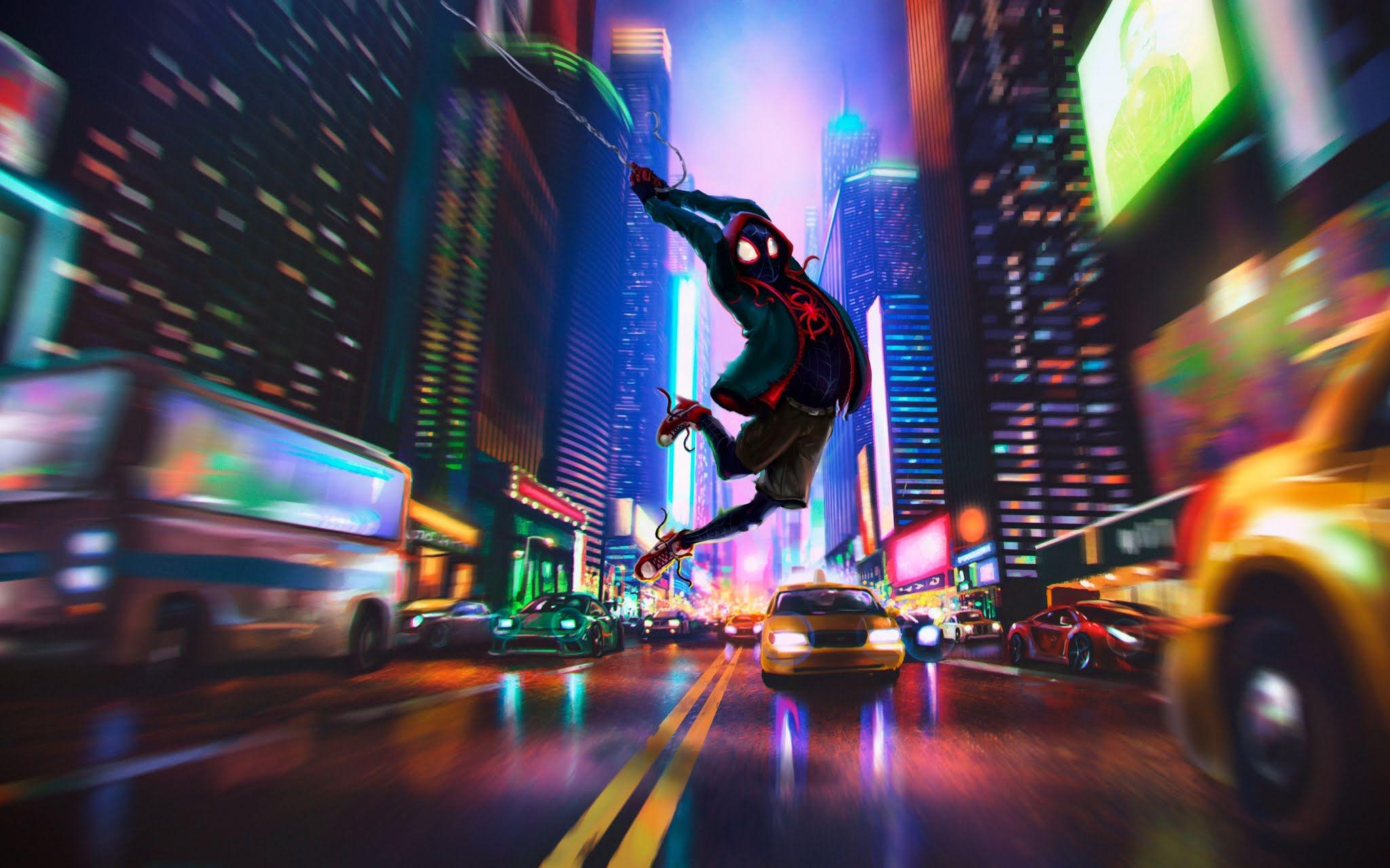 Spider Verse Miles Morales Wallpaper - Spider Man Into The Spider Verse - HD Wallpaper