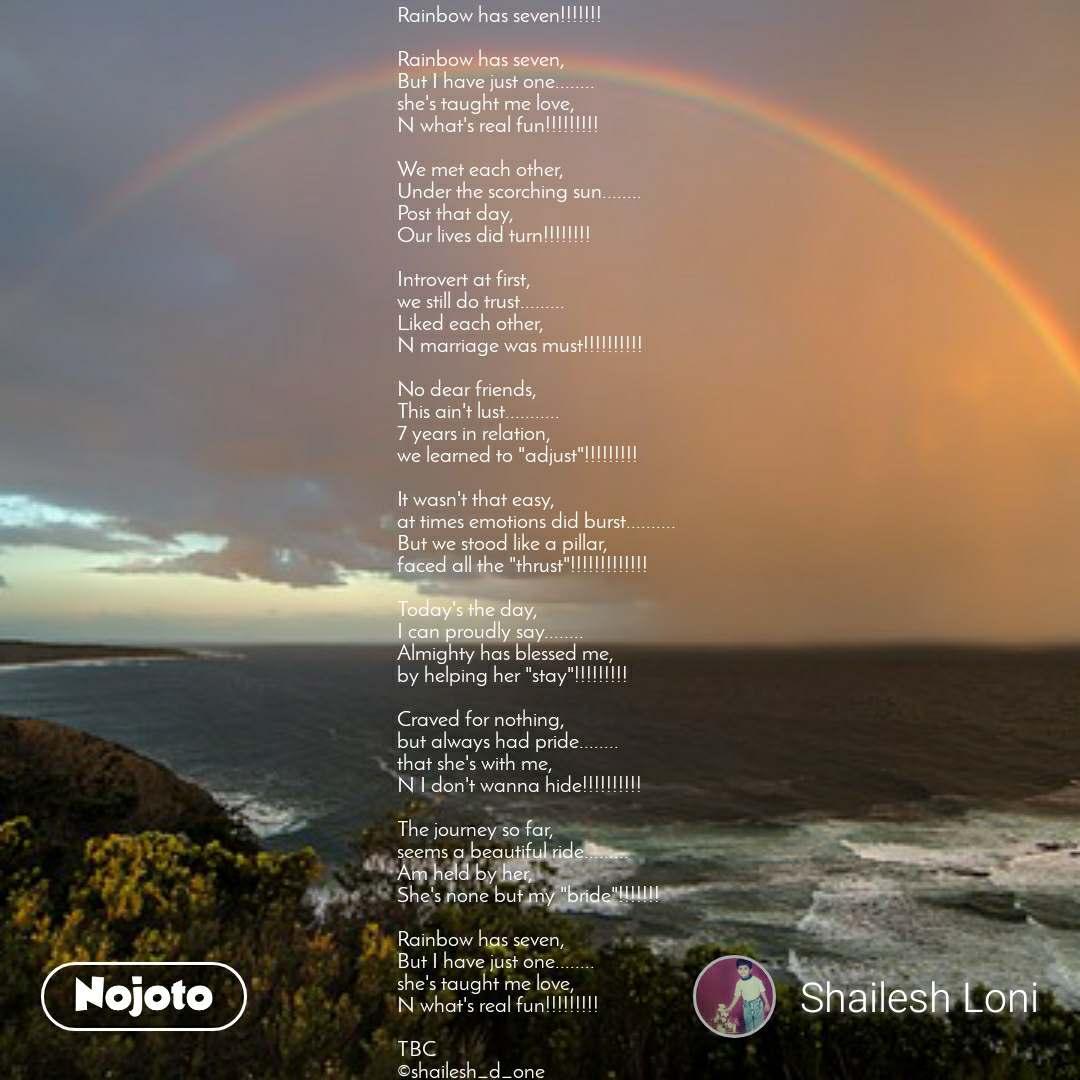 Rainbow Has Seven   rainbow Has Seven, but I Have Just - Regenbogen Über Meer - HD Wallpaper