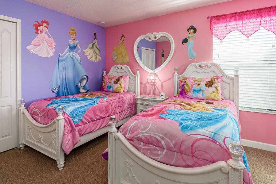 Disney Princess Bedroom - Disney Princess Themed Bedroom - HD Wallpaper