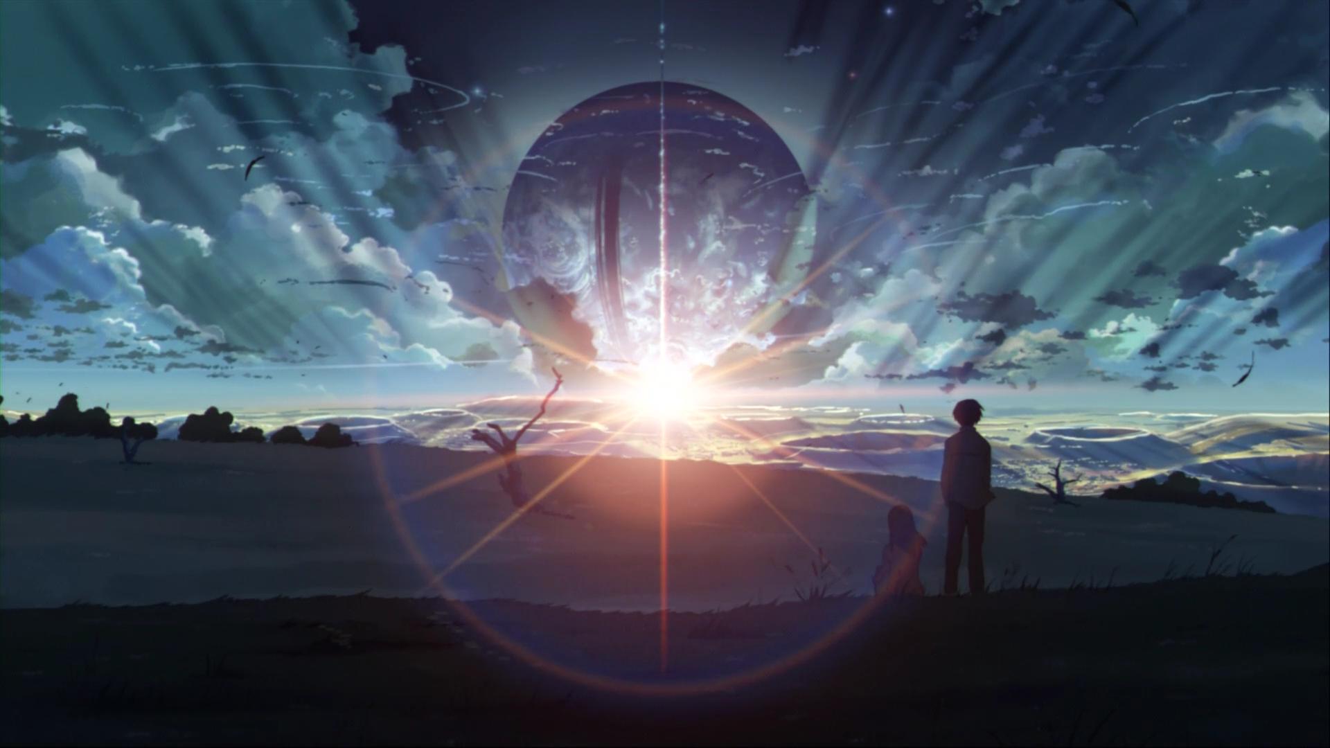 Awesome Fantasy World Artwork Anime Hd Wallpaper - 5 Centimeters Per Second - HD Wallpaper