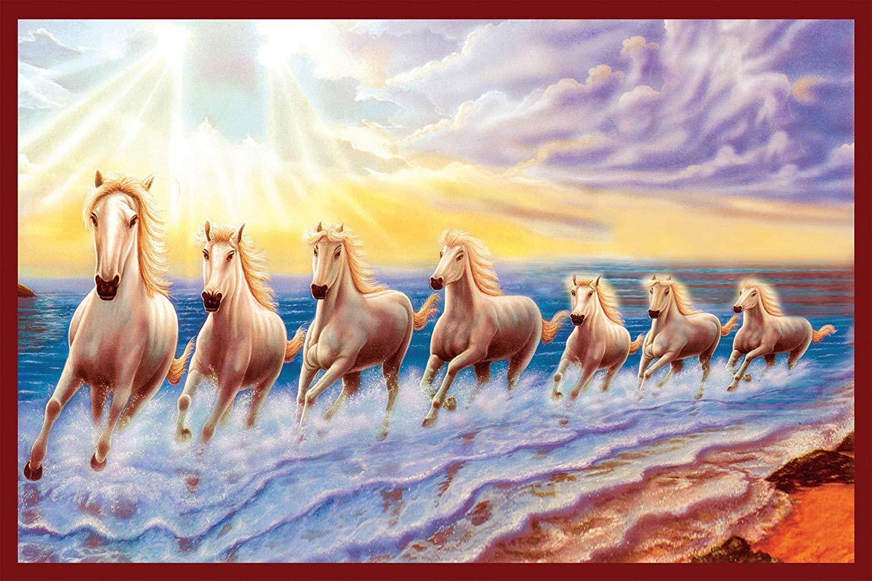 Seven Horse Running Sea Hd 1500x1000 Wallpaper Teahub Io