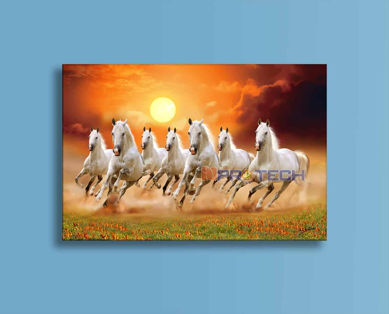Seven Horses Running Painting 1250x1009 Wallpaper Teahub Io