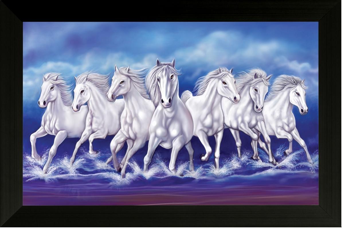 Seven White Running Horses Wallpaper Seven Running Horse Vastu 1197x800 Wallpaper Teahub Io