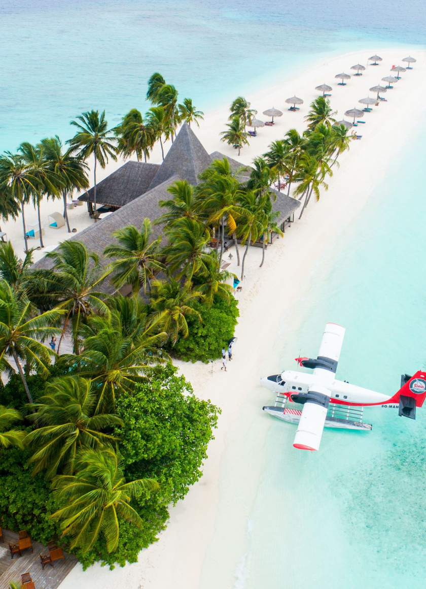 Maldives, Tropical Beaches, Resort, Palm Trees, Aerial - Vacation Captions For Instagram - HD Wallpaper