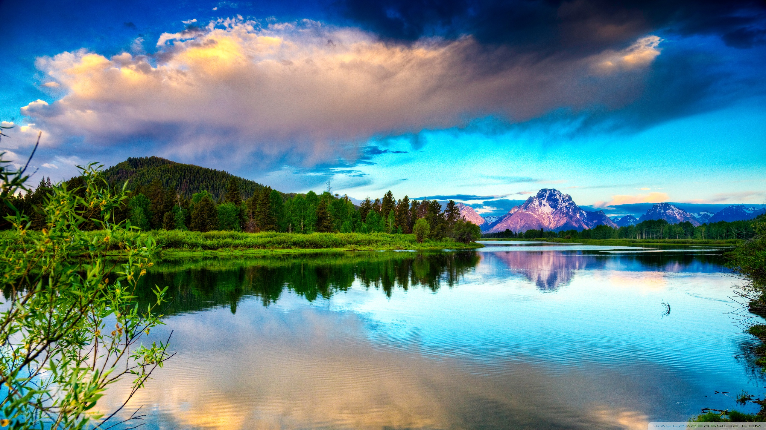 Landscape Oil Painting Nature 2560x1440 Wallpaper Teahub Io