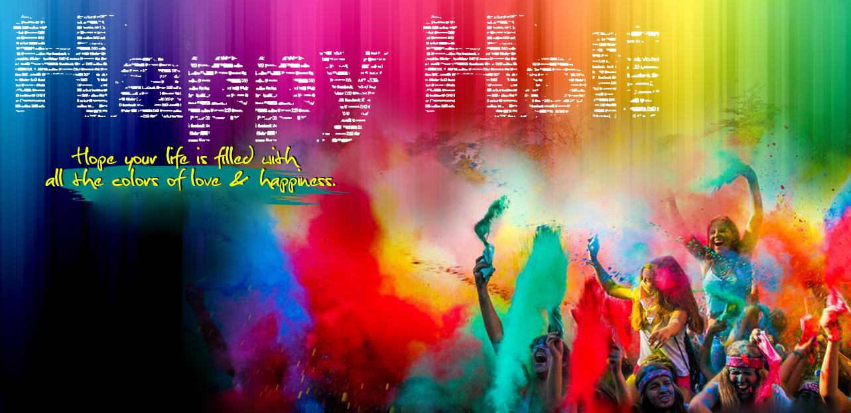 Happy Holi Images Radha Krishna - HD Wallpaper