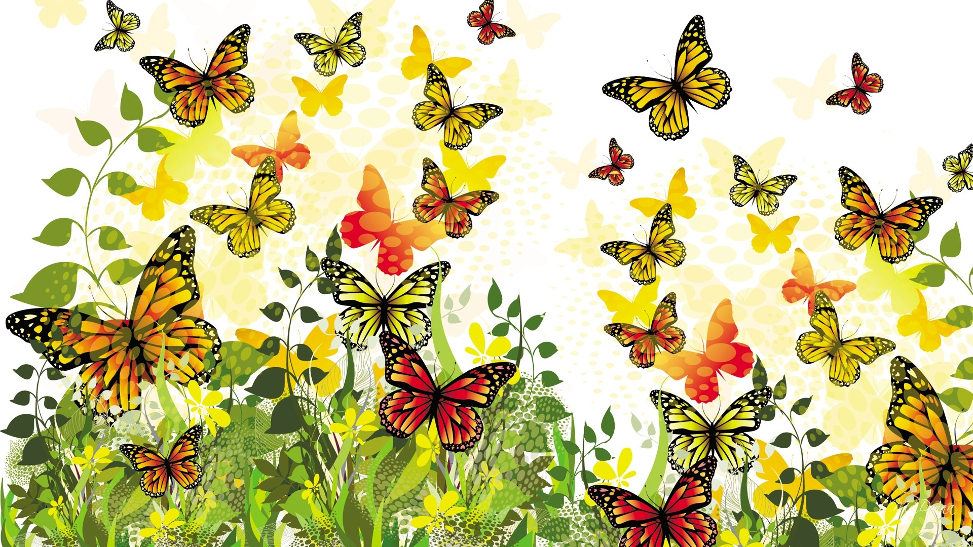 Butterflies Download Butterfly Garden Pic Wallpaper Hd 1920x1080 Wallpaper Teahub Io