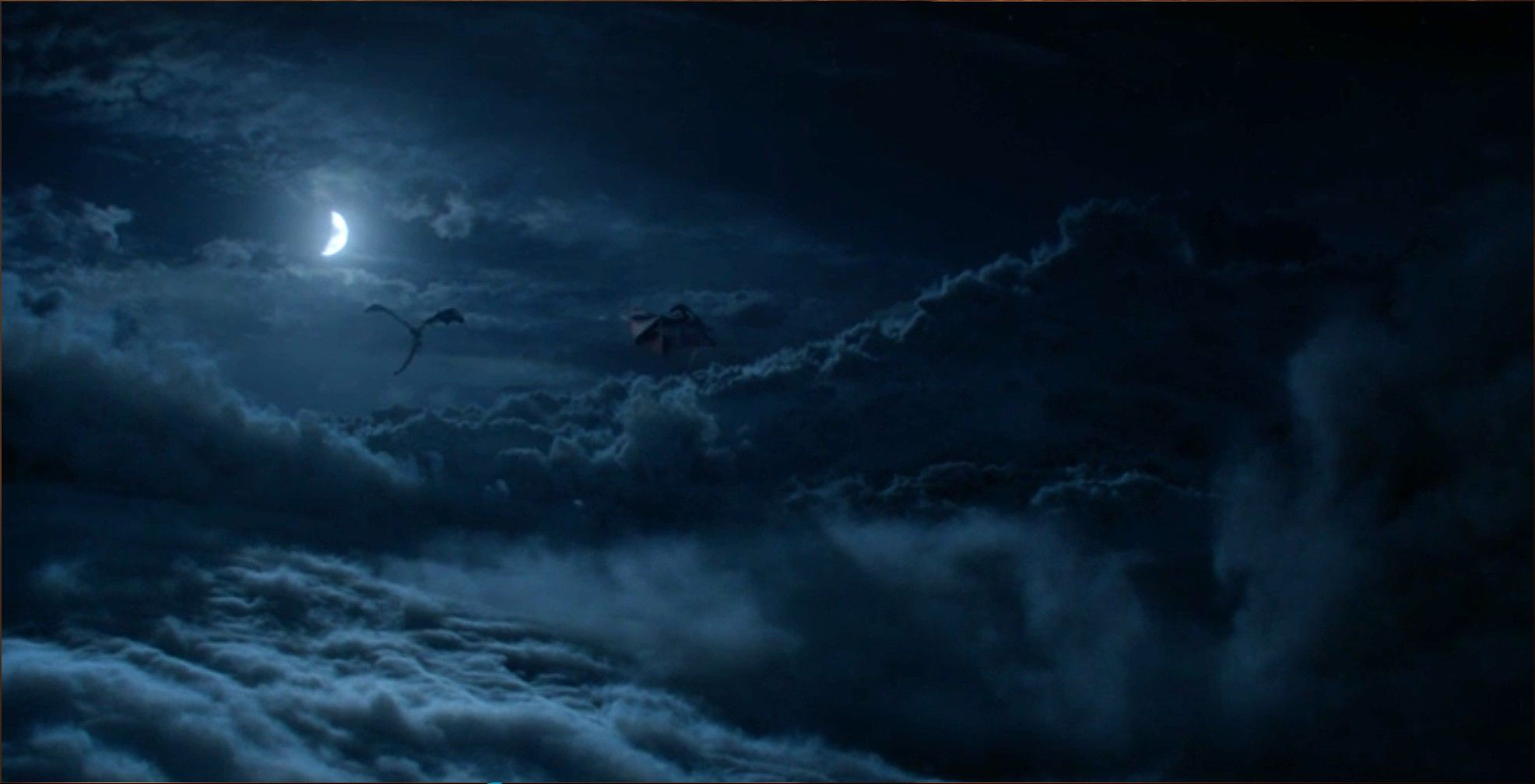 Dragons In The Night Sky Game Of Thrones - Game Of Thrones Dragons The Long Night - HD Wallpaper