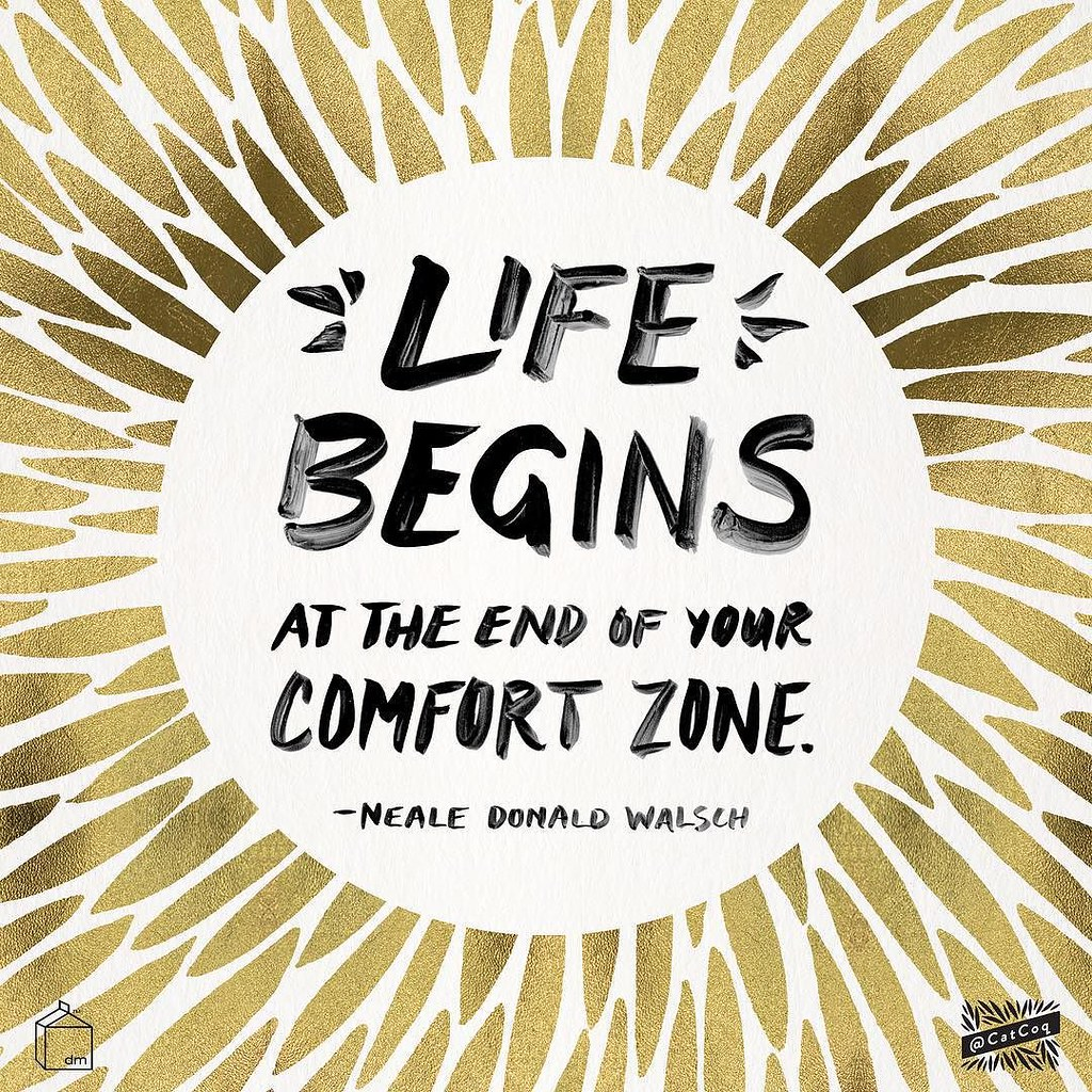 Life Begins At The End Of Your Comfort Zone Desktop - HD Wallpaper