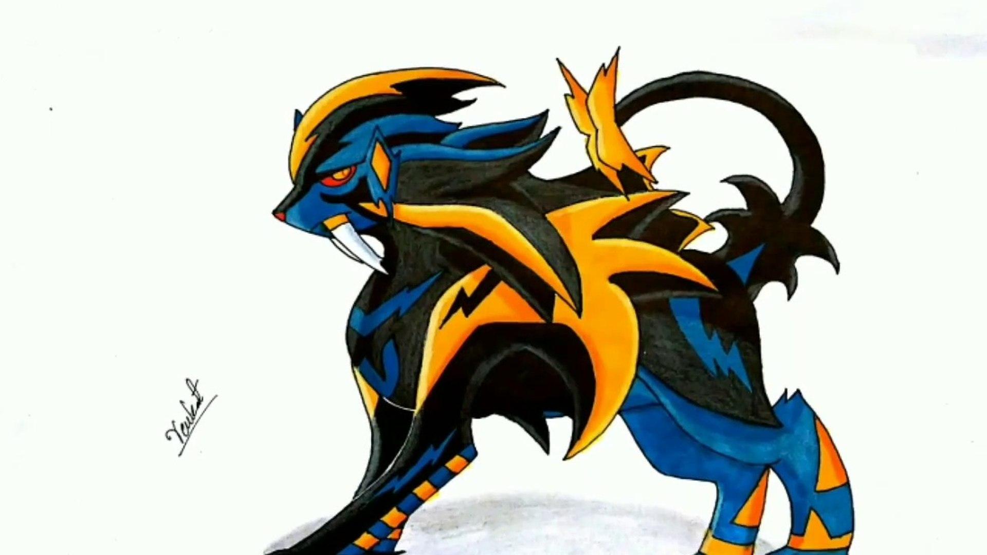 Mega Luxray Pokemon Drawing 1920x1080 Wallpaper Teahub Io