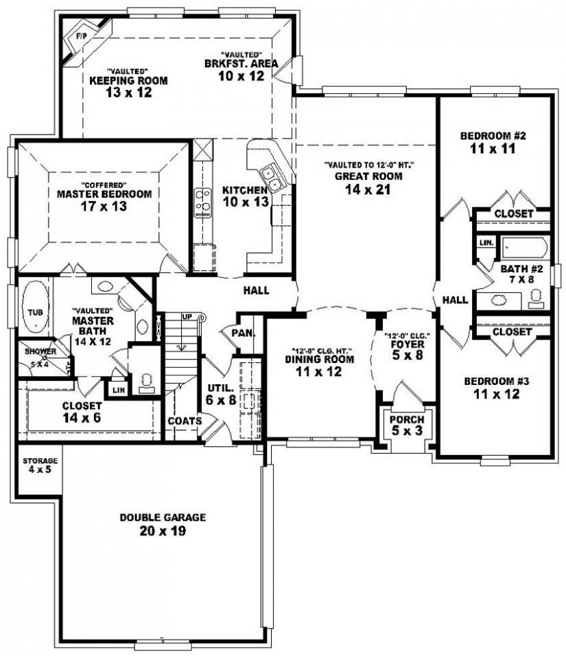 3 Bedroom 2 Bath Split Floor Plan 825x956 Wallpaper Teahub Io