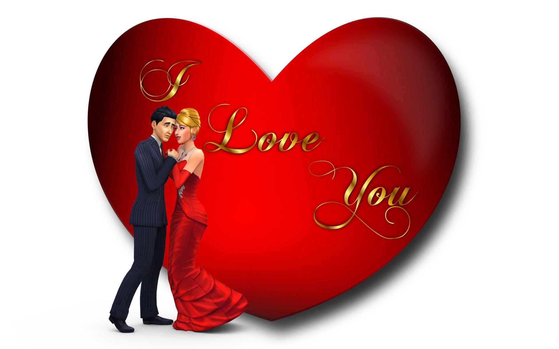 Love Wallpaper Valentines Day - HD Wallpaper