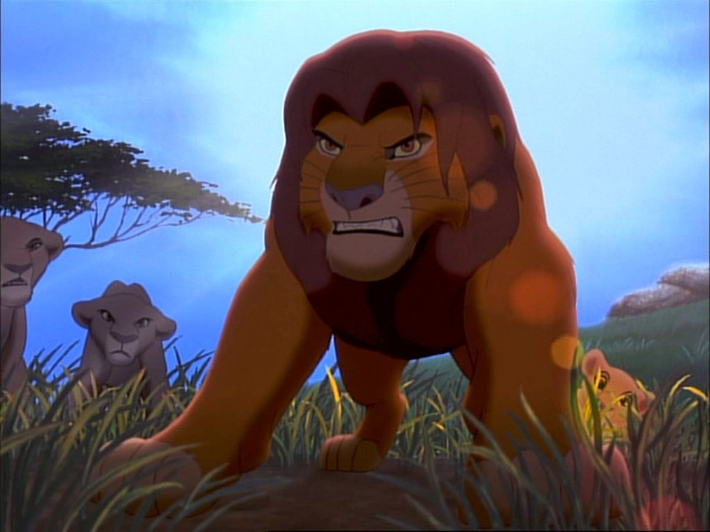 Lion King Simba Fight - HD Wallpaper
