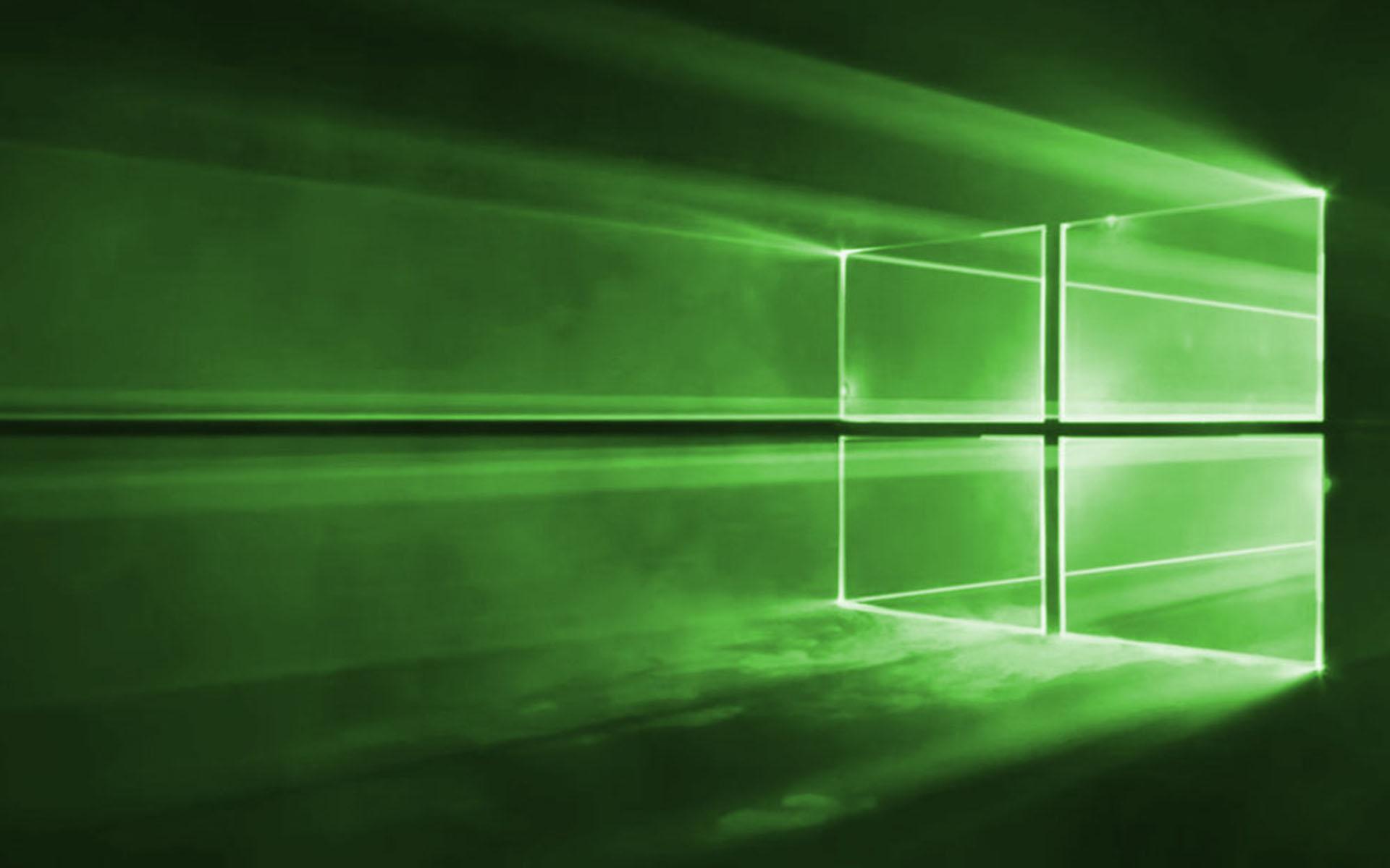 Windows 10 Wallpaper Green - HD Wallpaper
