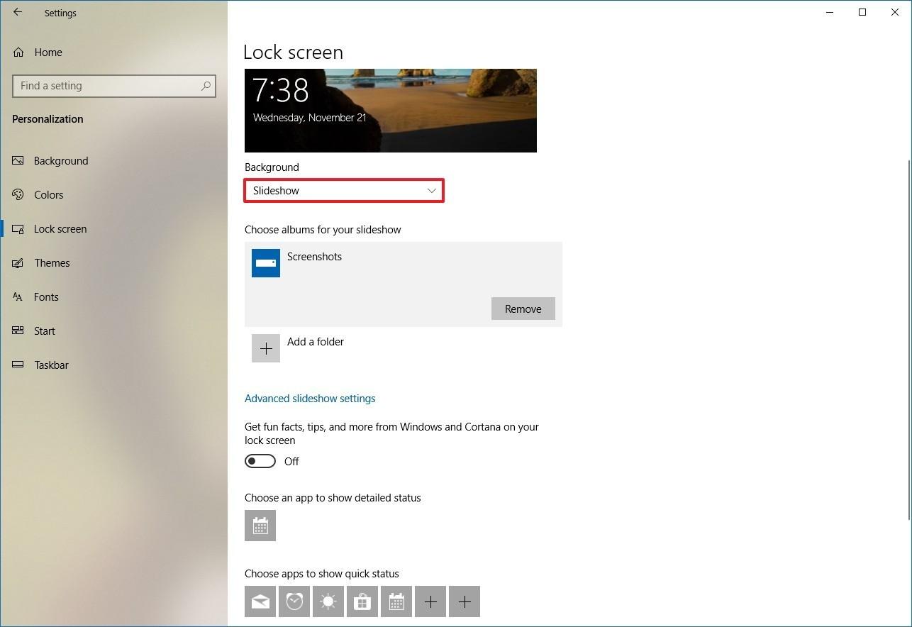 Windows 10 Lock Screen Settings - HD Wallpaper