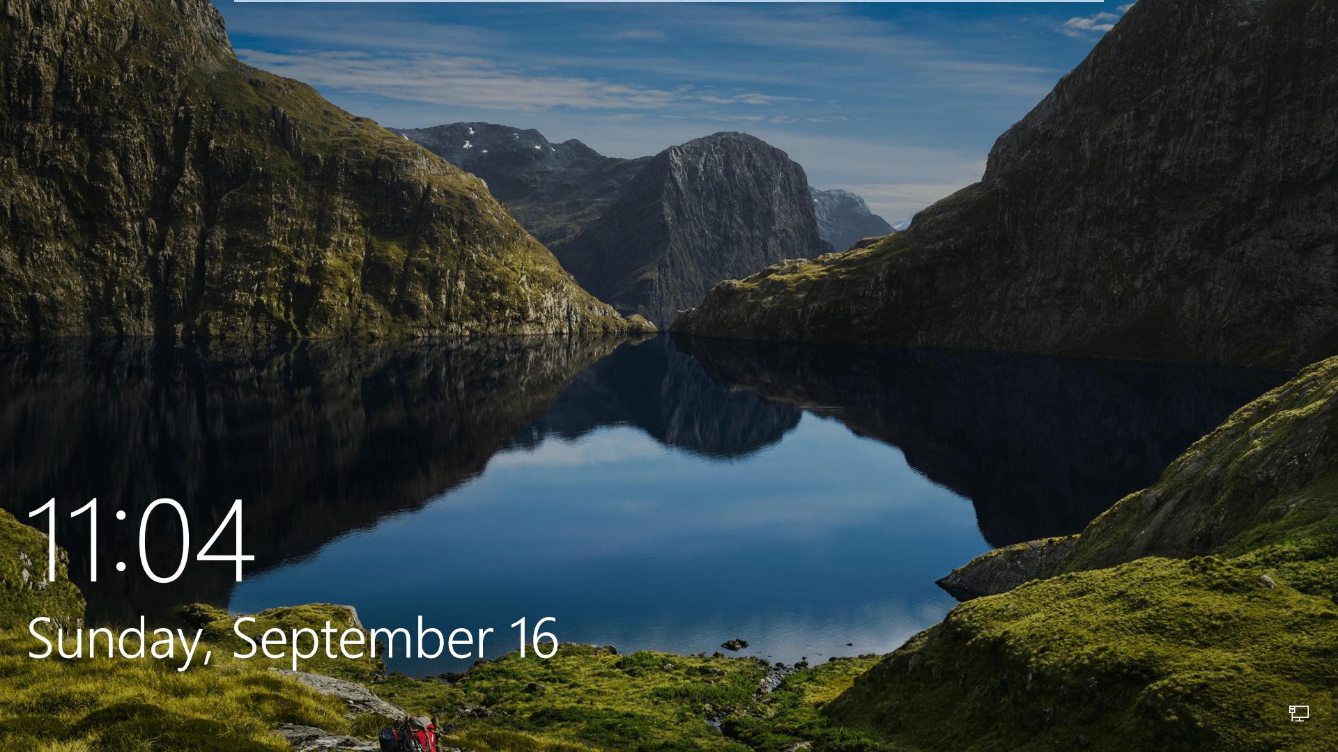 Windows 10 Lock Screen Lake - HD Wallpaper