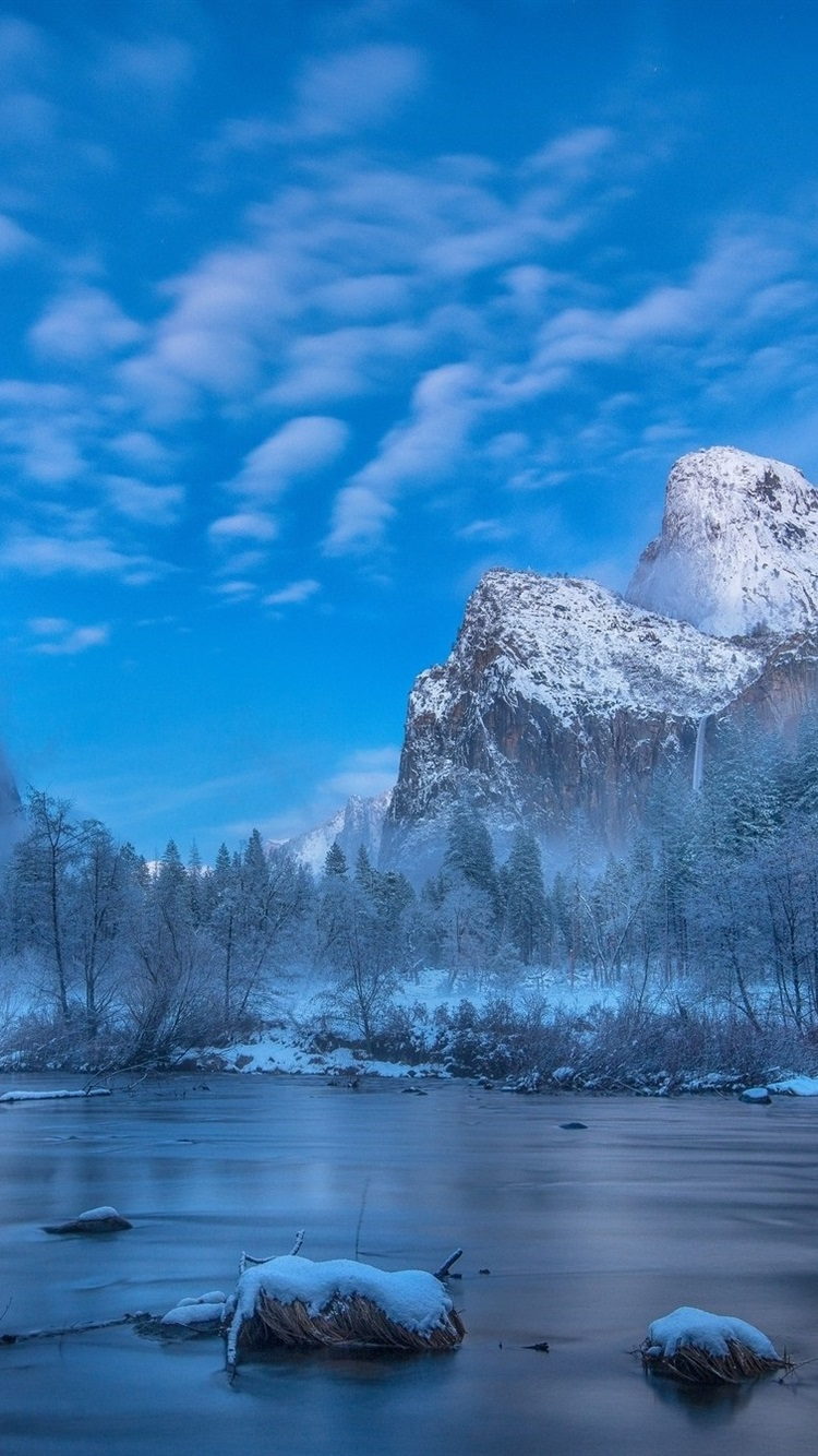 Iphone Wallpaper Winter, Snow, Trees, Mountains, River - Snow - HD Wallpaper