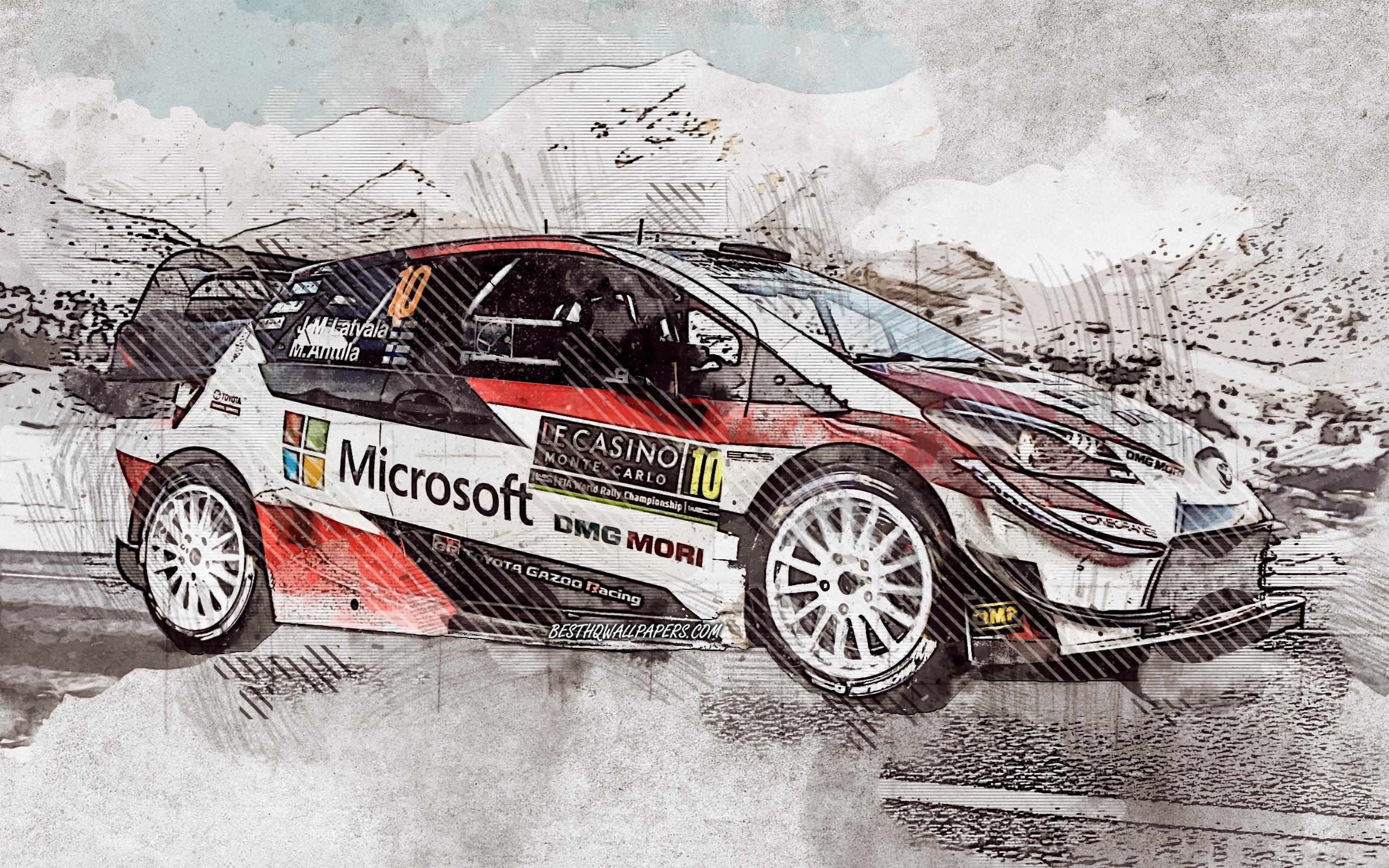Jari-matti Latvala, Toyota Yaris Wrc, Finnish Rally - Toyota Yaris Rally Hd - HD Wallpaper
