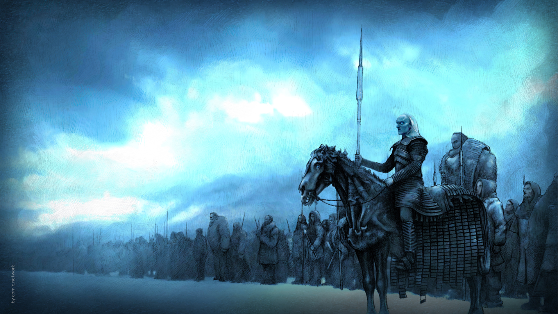Icedragon - Game Of Throne White Walkers And Dragon - HD Wallpaper